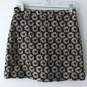 Alice + Olivia floral heart embroider skirt size S